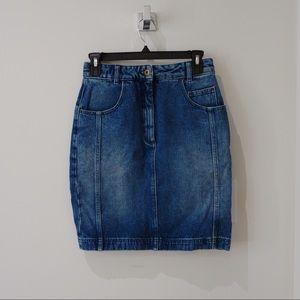 Claudia Pierlot denim skirt mid-length